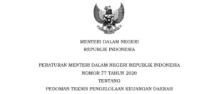 Bimtek Pedoman Teknis Pengelolaan Keuangan Daerah (Permendagri No. 77 Tahun 2020)