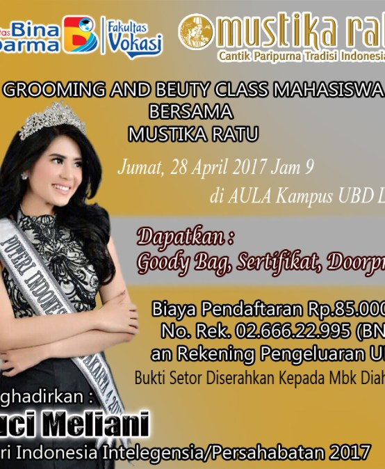 Grooming and Beauty Class Bersama Mustika Ratu