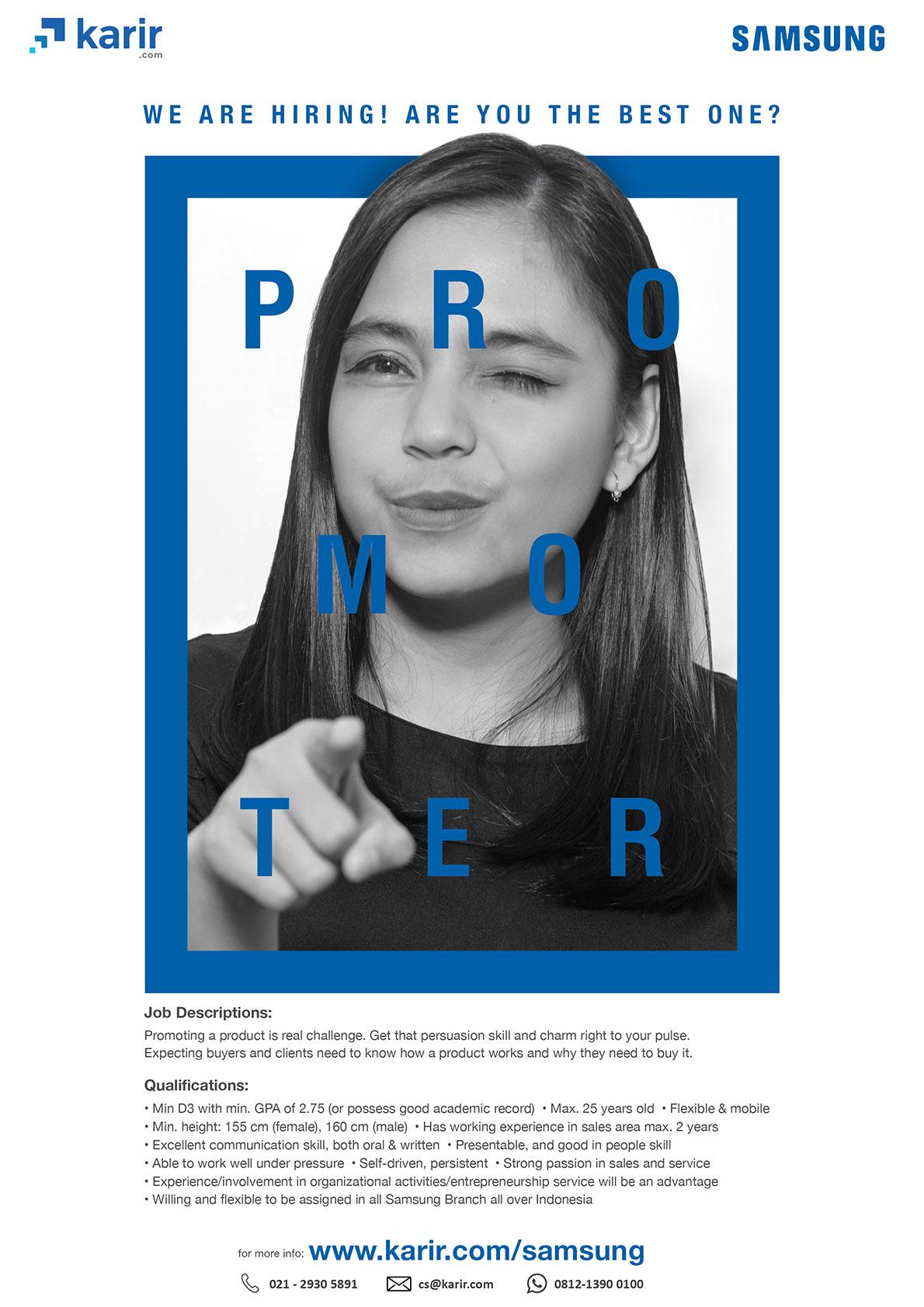 Lowongan Kerja bagi Alumni sebagai Promoter Samsung