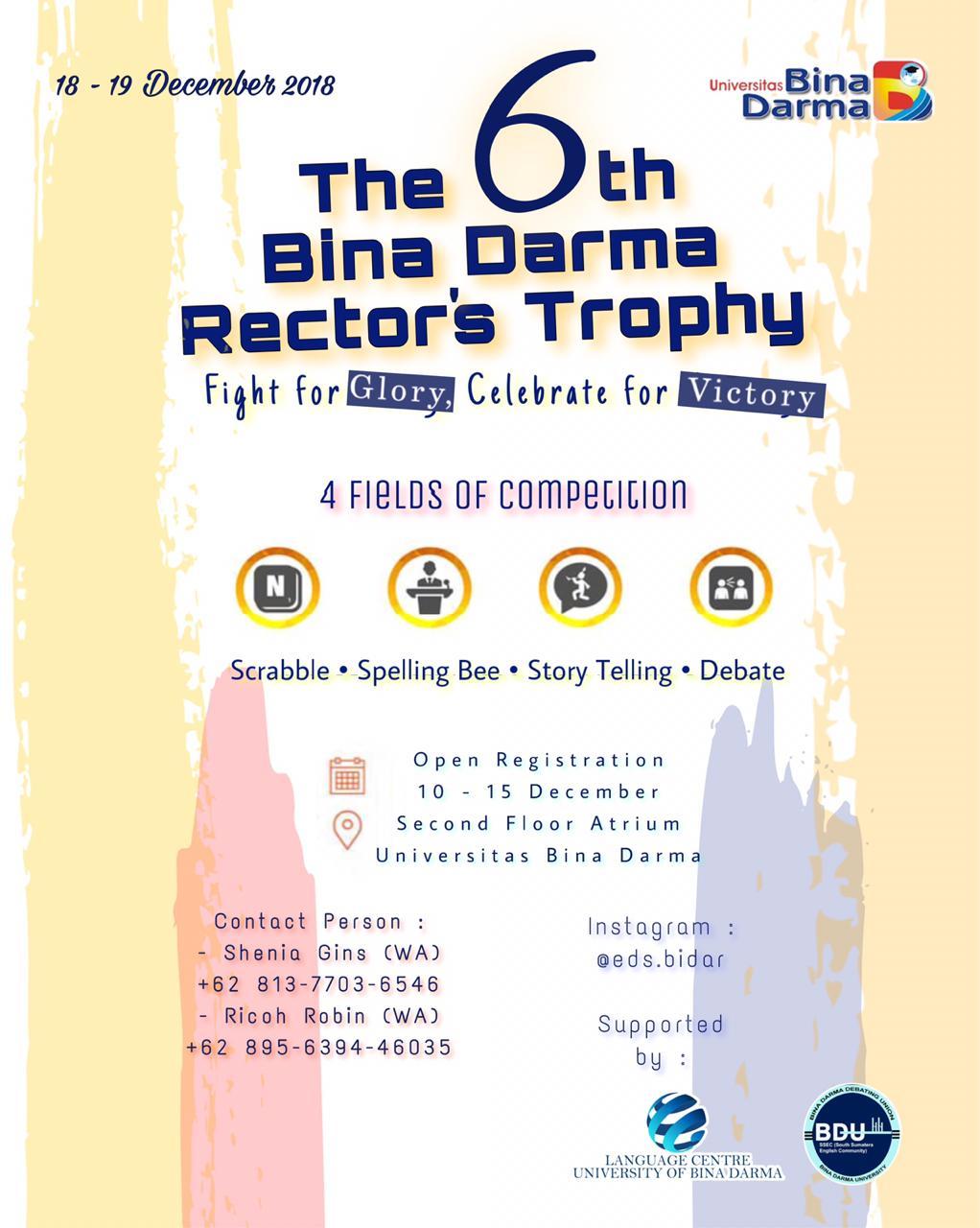Bina Darma Rector's Trophy 2018
