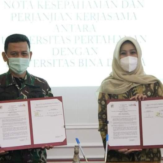 Kerjasama Universitas Bina Darma dengan Universitas Pertahanan.