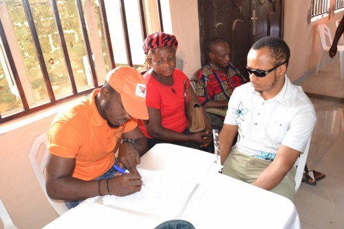 A blind student for Computer Literacy class for Nnewi Centre