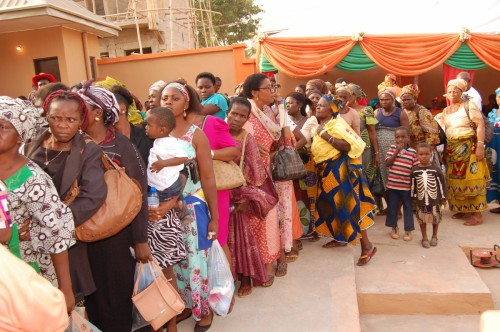 A cross section of widows who queue up to recieve gifts during the WIDOWS DAY OF JOY  04