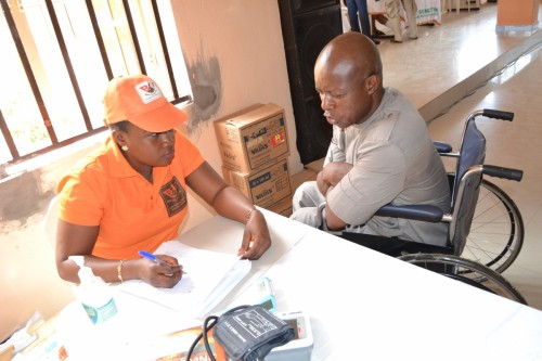 Bina Foundation collects data from new student for Nnewi Centre