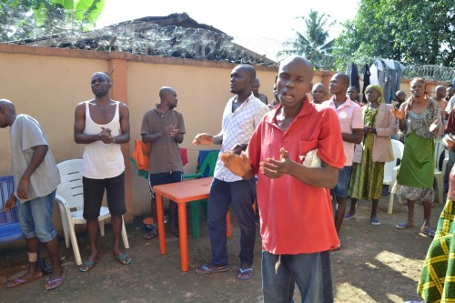 Bina Foundation leads the mentally challenged in songs and praise session