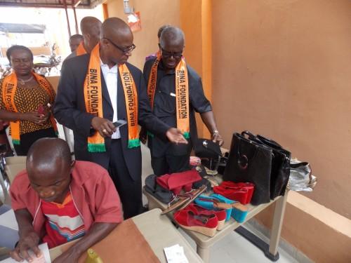 Dr, Paul Kings, Atlanta Georgia, USA, at the Leather Work Department of Bina Foundation
