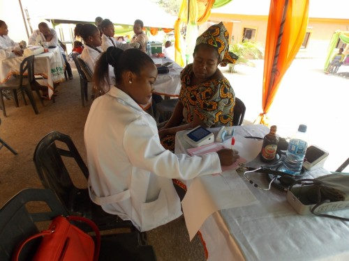 Medical services rendered to patients during the event