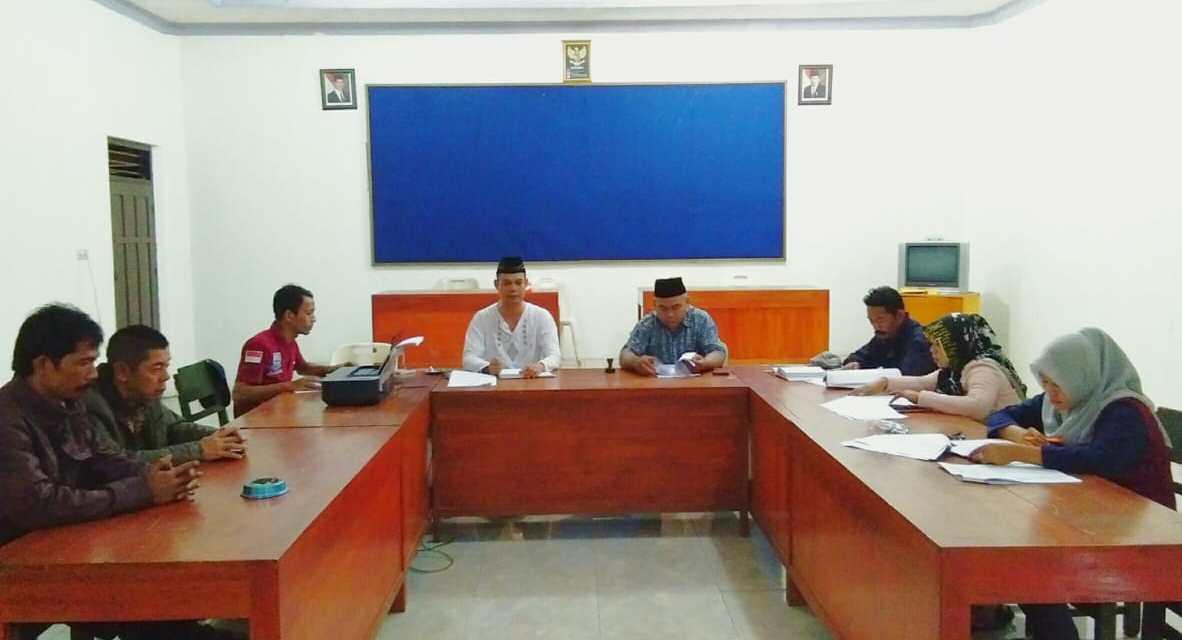 Rapat Tahap Satu Panitia Pelaksana Pemilihan Kepala Desa Desa Binangun
