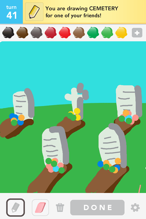 Draw Something - Cemetry