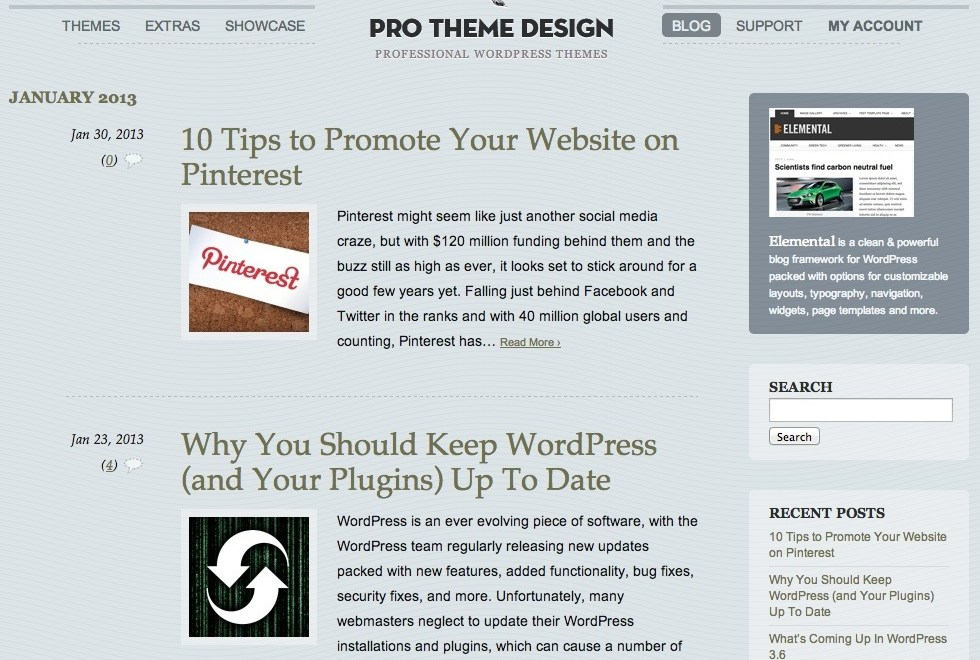 Pro Theme Design Blog