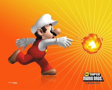 New Super Mario Brothers - Mario Fireball