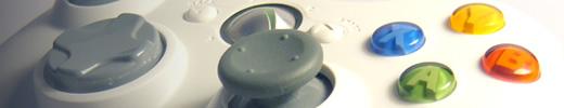 XBox 360 controller closeup
