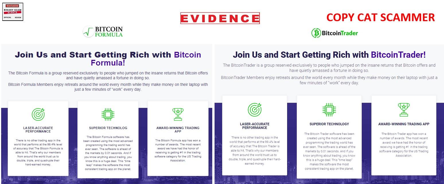 Bitcoin Formula Review, Cloned Bitcoin Formula SCAM is a Fake App