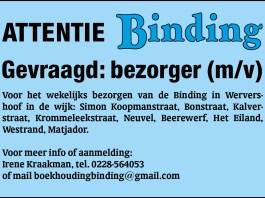 Krantenbezorger gezicht weekblad Binding Wervershoof