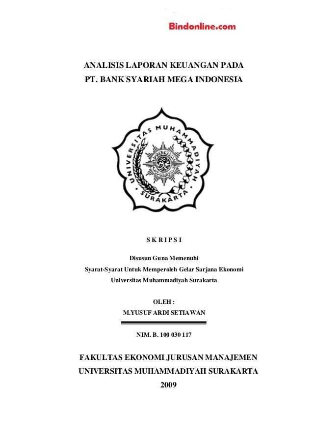 Judul Skripsi Manajemen Keuangan Bank Syariah