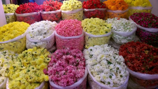 Flowers galore - making a flower rangoli is easy with so many options