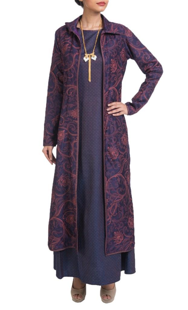 Denim Dress with a Reversable Jacket- Shruti Sancheti, Available at Shaadilogy.com