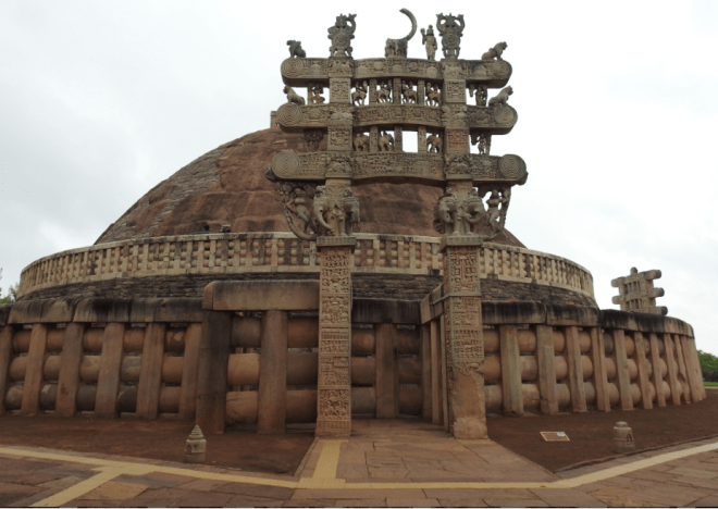 The Sanchi Stupa near Bhopal
