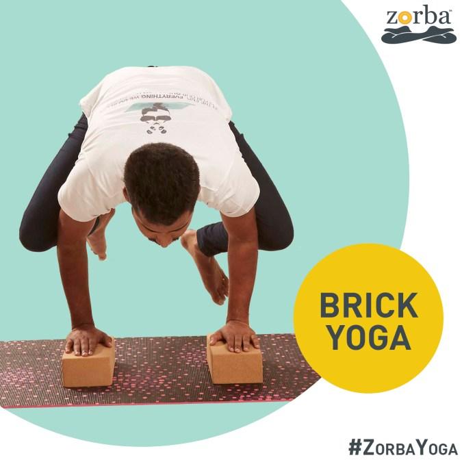 Brick yoga at Zorba