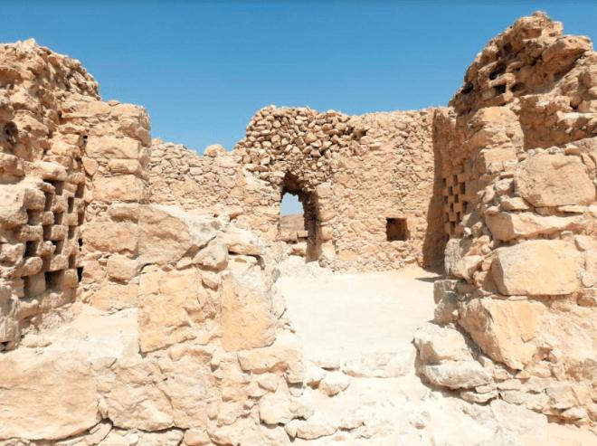The ruins of Massada