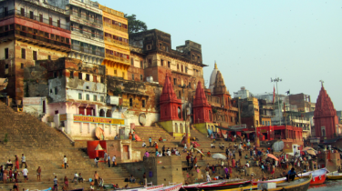 The colourful Ghats of Varanasi