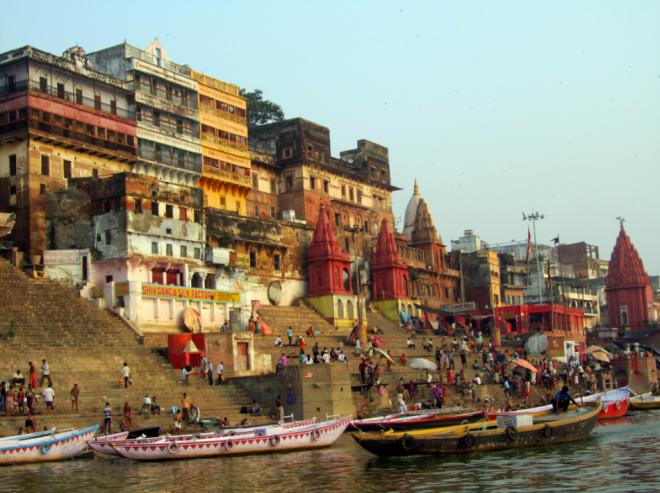 The colourful Ghats of Varanasi