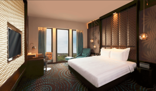 The plush rooms at Pullman