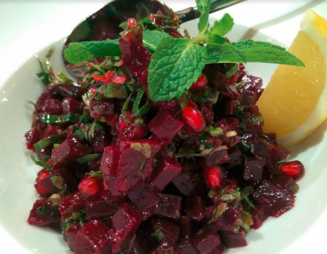 Beetroot and Pomegranate Salad