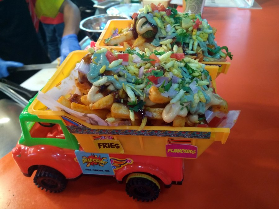 Food is served in mini trucks