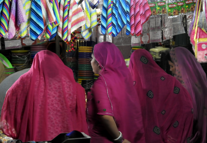 Women shopping in the local markets of Jodhpur