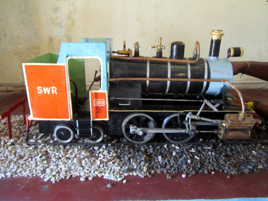 A miniature model of an engine at the Rail Museum