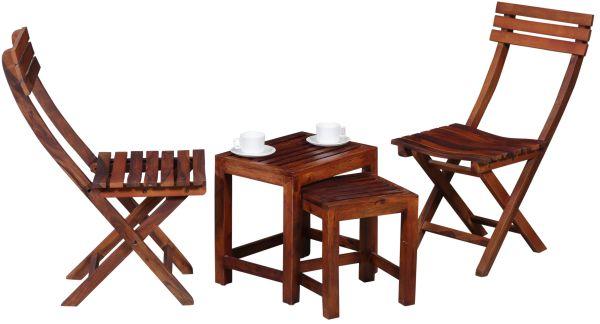 Nico Outdoor Folding Chair Stool Rent Set  Courtesy: Fabrento