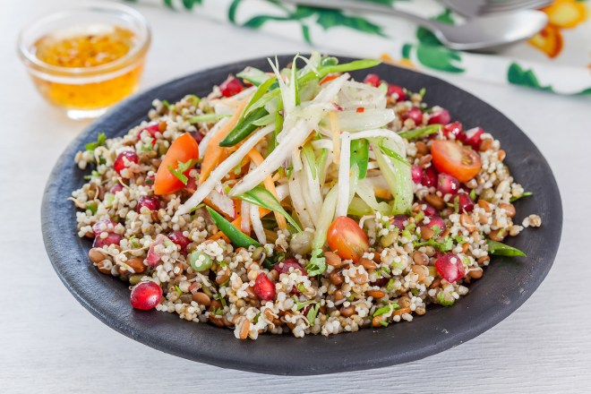 Foxtail Millet Pomegranate Sprouts Salad (Veg) from Fresh Menu