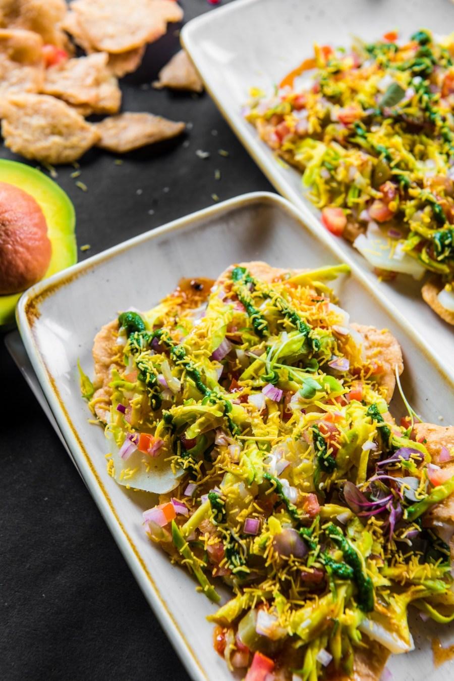 Multigrain Sevpuri -Avocado-Chutney-Punjab-Grill