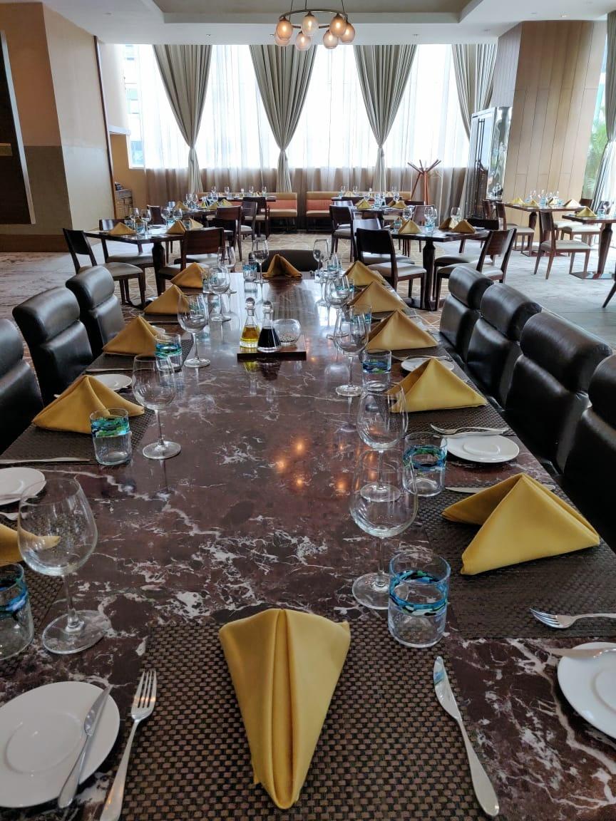 Table setup at Bene