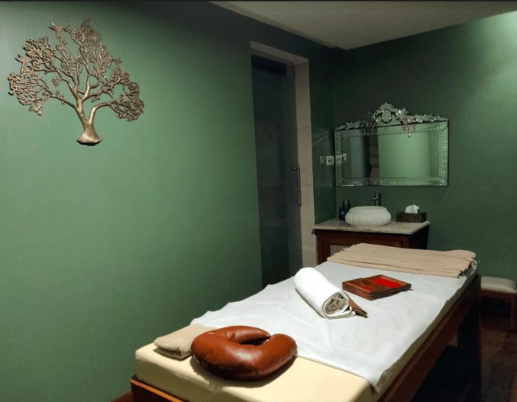 Treatment room at Vino Spa