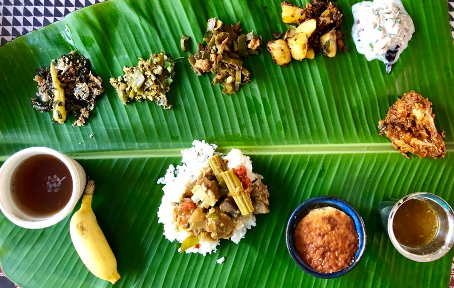 An authentic Pondy meal by Pushpa at Pondicherry