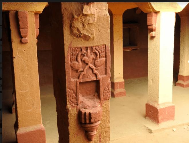 Carvings in an abandoned home in Kuldhara