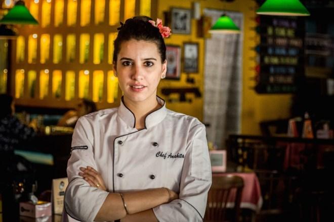 Chef Anahita N. Dhondy, Chef Partner, SodaBottleOpenerWala, Cyber Hub, Gurgaon