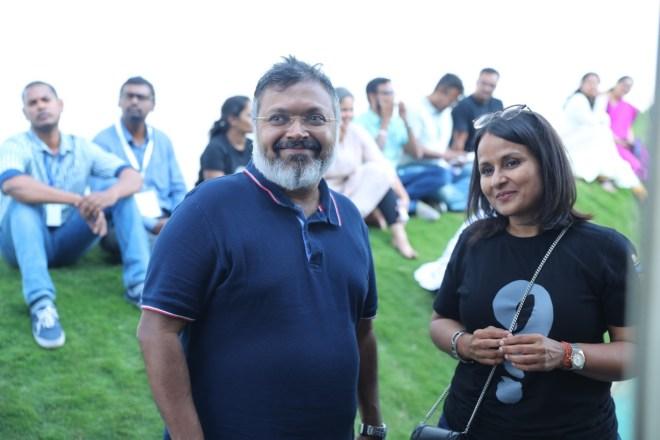 Devdutt Pattnaik and Kavita Gupta Sabharwal, Co founder of Neev Lit Fest