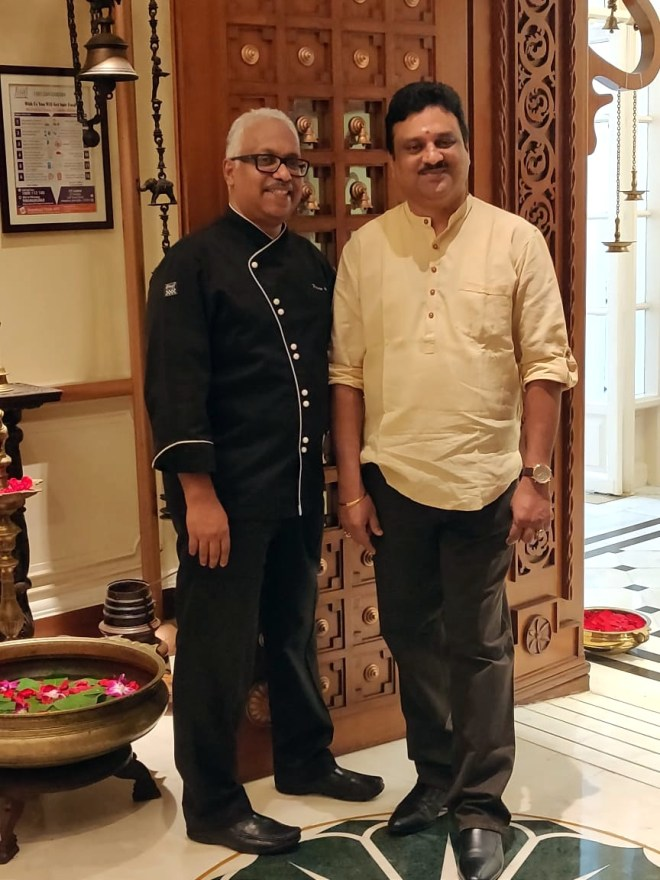 Chef Praveen Anand (left) and Abaji Rajah Bhonsle (right)