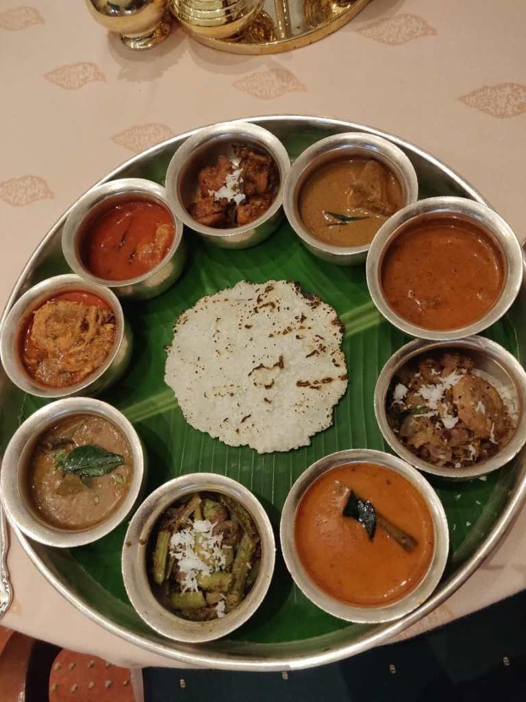 The vegetarian thaali