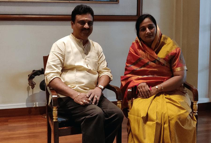 Abaji Rajah Bhonsle and wife