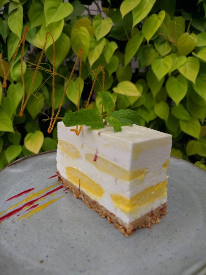 Ras malai cheese cake courtesy Santé Spa Cuisine
