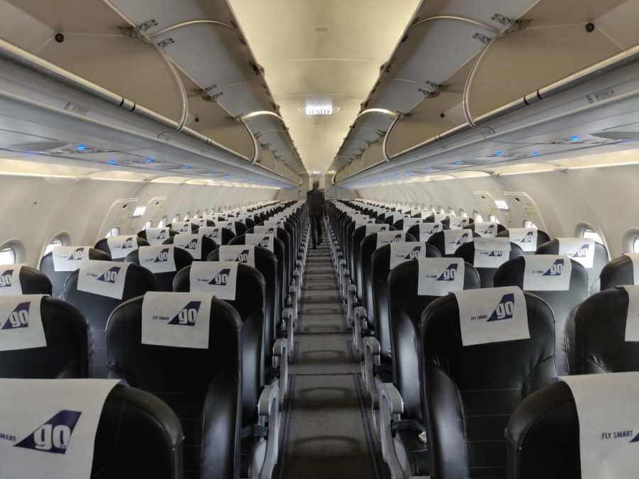 The GoAir flight to and fro Male