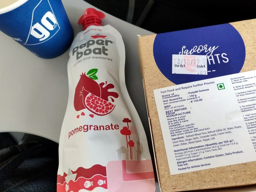 Meals on board GoAir