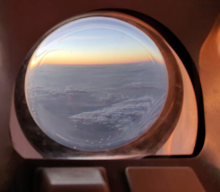 Sunset from a GoAir flight