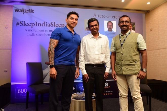 L to R - Mr. Luke Countinho, Dr Arun Sashidharan and Mr. Chaitanya Ramalingegowda