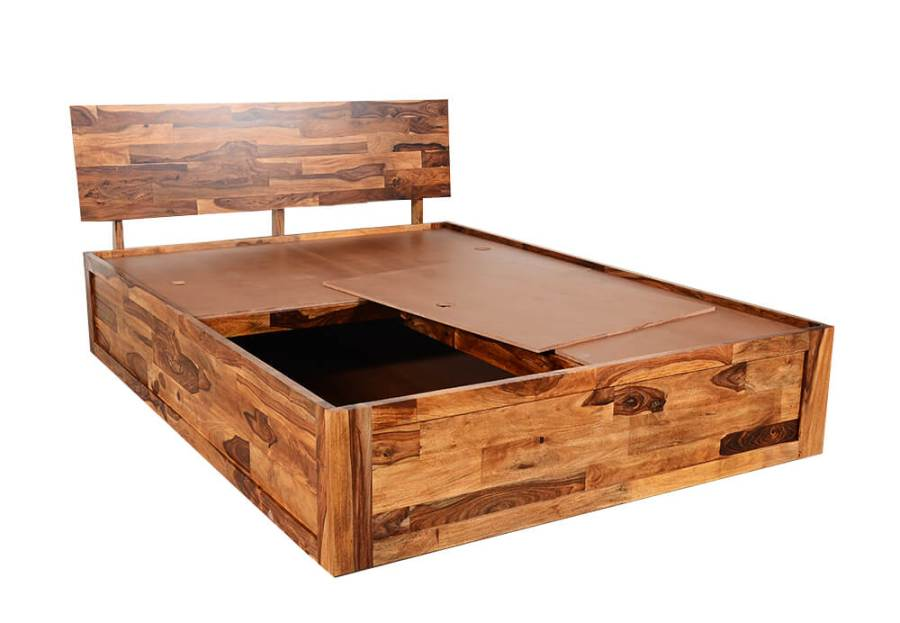 Wakefit - Sheesham andromeda storage bed