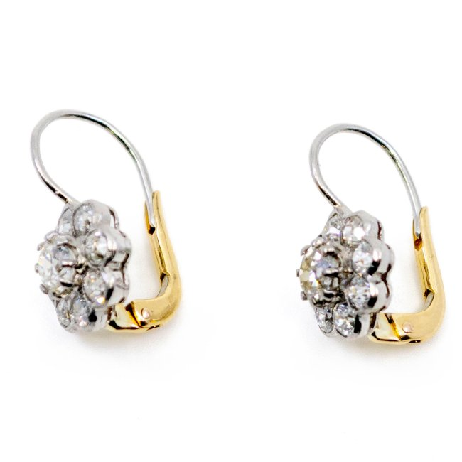 Diamond, Platinum, Gold Earrings 4982AP Image3